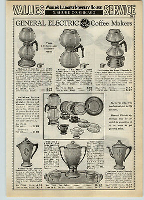 1939 PAPER AD Mohawk Ashton Dorchester Rainbow GE General Electric Coffee Maker