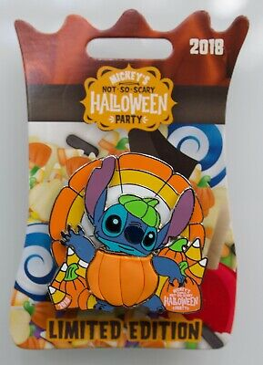 DISNEY MICKEY'S NOT SO SCARY HALLOWEEN PARTY 2018 STITCH AS A PUMPKIN LE - A Not So Scary Halloween Disney