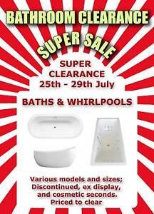 Clearance Sale on Bette Enamelled Steel Baths - Various Pinkenba Brisbane North East Preview