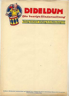 Neuentdeckung Dideldum Briefbogen 30er Jahre Rarität - ultra selten