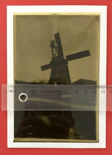 altes+Original+Foto+Negativ+Positiv+Postkarten+Fotos+Windm%C3%BChle+Mole++%28+F19771