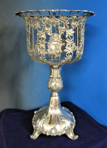 Antique English Silverplate Fern Stand Rare Form Acorn & Oak Leaf Ornamentation
