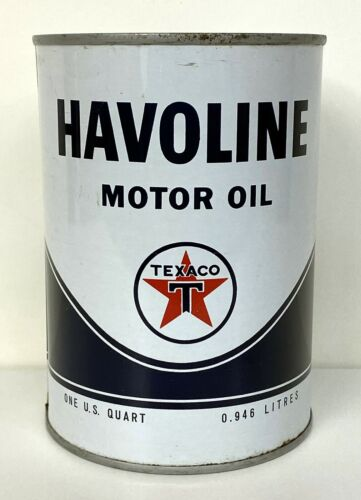 Vintage Texaco Havoline Motor Oil One Quart Tin Can
