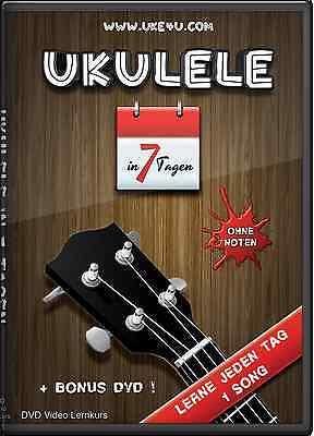 """""""Ukulele in 7 Tagen"""" - lernen - DVD Video Lernkurs für Ukulele 2 DVDs"""