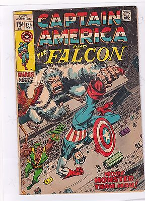 CAPTAIN AMERICA and the FALCON #135 / MORE MONSTER THAN MAN / LEE / COLAN /