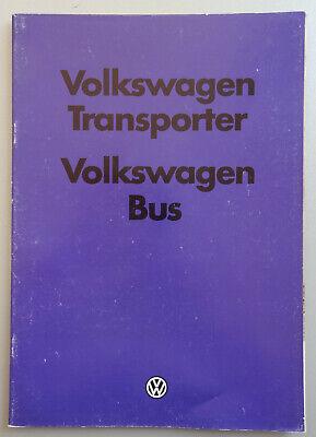 V17884 VOLKSWAGEN TRANSPORTER & BUS - CATALOGUE - 08/80 - A4 - DK
