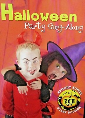 Halloween Theme Party Music (Halloween: Party Sing-Along NEW! 3 CD, Monster Mash,Themes, Sounds Spooky,)