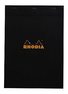 Rhodia Staplebound Notebook 8 14 X 11 34 Graph Black