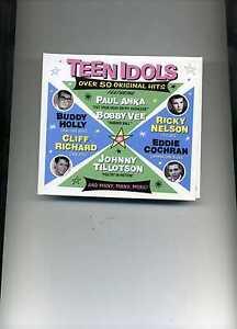 TEEN IDOLS - BOBBY VEE ELVIS MARTY WILDE PAT BOONE ADAM FAITH - 2 CDS - NEW!!