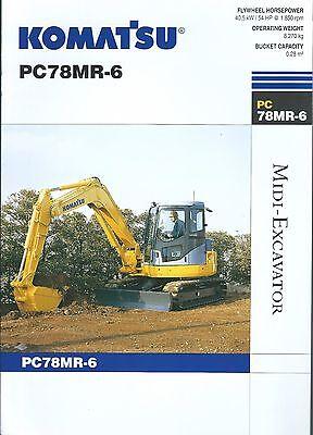 Equipment Brochure - Komatsu - Pc78mr-6 - Midi Excavator - 2005 E3463