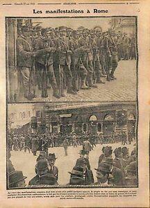 polizia evento Italia Troops Rome Roma Police Alpini Soldiers Italy WWI 1915