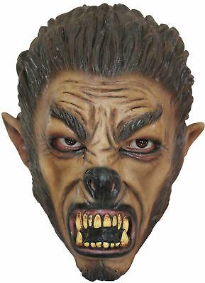 Wolf Mask Child Latex Werewolf Brown Halloween](Wolf Mask Kids)