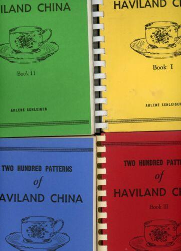Haviland China Patterns (Identifcation of 800 Patterns) Scarce 4-Volume Book Set