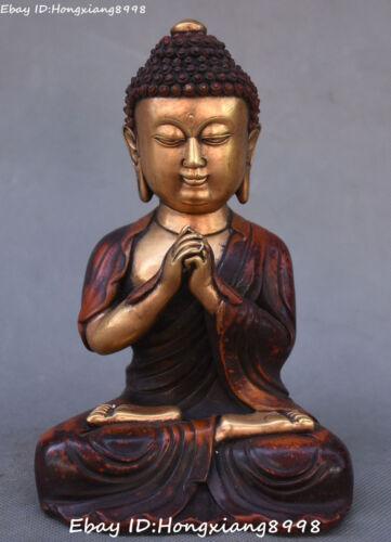 Tibetan Bronze Gilt Buddhism Seat Shakyamuni Sakyamuni Amitabha Buddha Statue