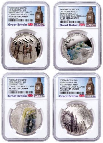 2017 Great Britain Portrait Silver £5 4-Coin Set NGC PF70 UC ER Big Ben SKU49442