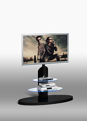 Tv-rack (TV Rack Ablage Halterung Unterschrank inkl. LED Licht Schwarz Hochglanz TV681)