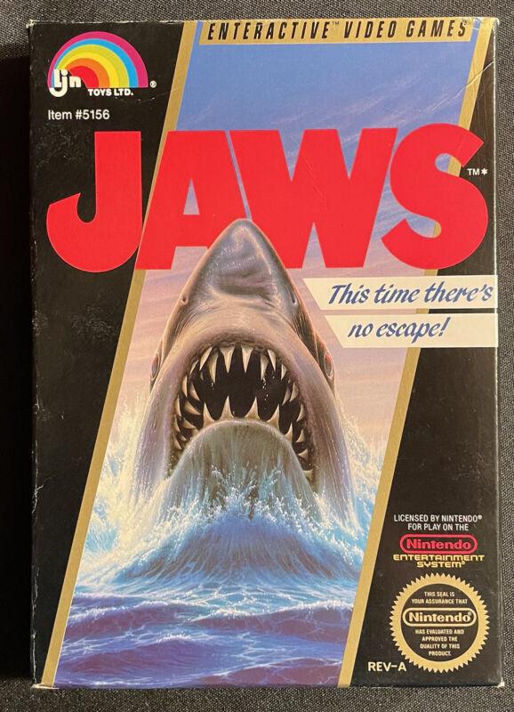 Jaws Nintendo NES Box Only Original Authentic Nice Shape