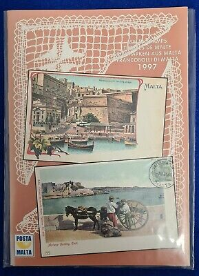 1997 Malta Post Stamps MNH Year Pack with Original Cover & card
