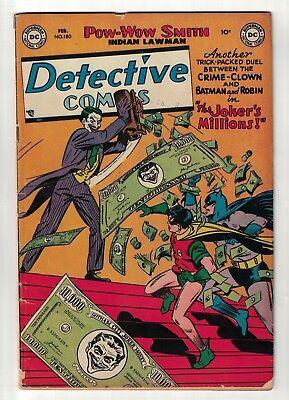 DC Detective comics 180 jokers millions VG- 3.0 1952 Classic cover batman golden