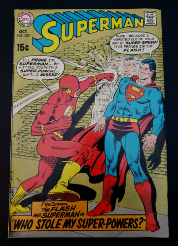 Superman #220 (1969, DC) Flash Appearance