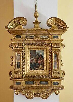 Importante Coppia Di Pittura Su Rame Alta Epoca Cornici Antiche antique painting