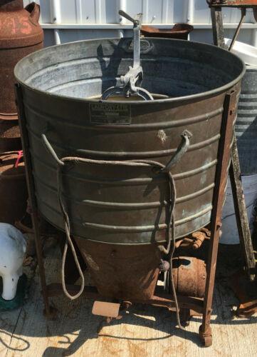 LAUN-DRY-ETTE Copper Tub Washing Machine wash tub vintage antiqie