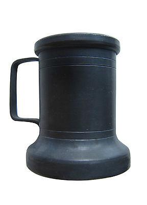 Ancient Mug in Pewter Branded '900 Vase Antique Old Pitcher Pewter Tankard