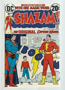 SHAZAM #1 1973 FIRST NEW CAPTAIN MARVEL C. C. BECK  HIGH GRADE  White pages!