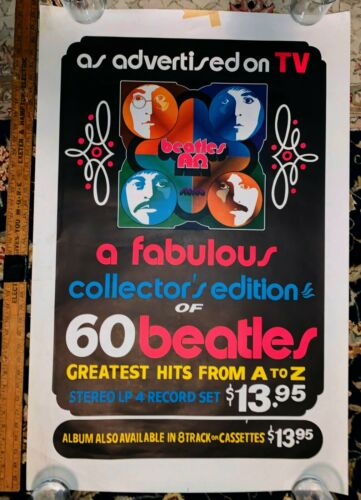 1972 Beatles ALPHA OMEGA In Store Promotional Poster - Very Rare In Store Promo