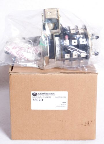 Electroswitch Lock Out Relay Switch 125 VDC Coil Series 24 7802D