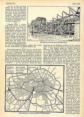 Übersichtskarte zu den neuen Berliner Verkehrsprojekten c.1905