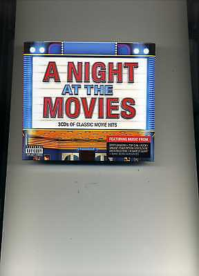 A NIGHT AT THE MOVIES - ELVIS BONNIE TYLER SURVIVOR LOU REED - 3 CDS - NEW!!