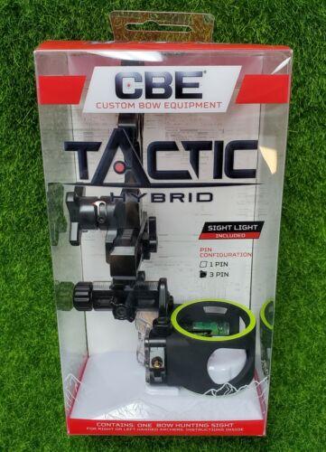CBE Tactic Hybrid 3-Pin .019 RH/LH Fiber Optic Bow Sight - CBE-TCH-3-19