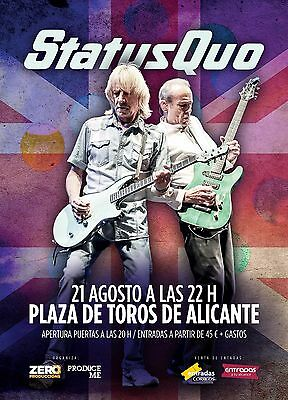 STATUS QUO 2016 SPAIN CONCERT TOUR POSTER- Rock and Roll, Hard/Boogie Rock Music