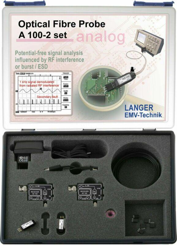 Langer EMV A100-2 Set Optical Fiber (Fibre) Probe 2-channel, 25 kHz EMC Probes