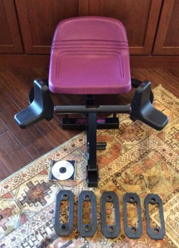 BODY BY JAKE HIP & THIGH EXERCISE MACHINE W/ 5 RESISTANCE BANDS, CLIPS & DVD