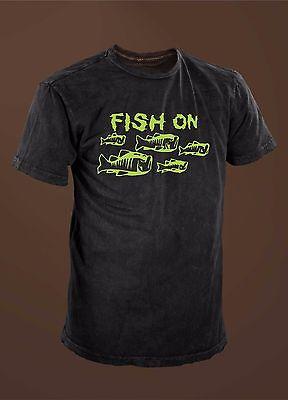 Fish On Bass School Funny Fishing (Bass Fish Fishing T-shirt)