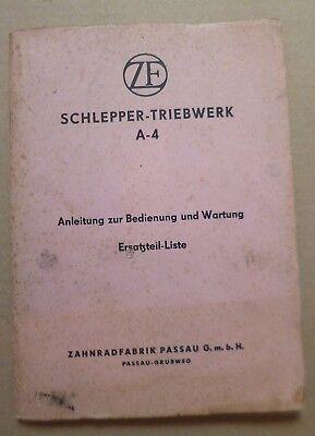 MAN 2L4 4L2 2L5 Schlepper Ersatzteilliste 1961 Motor 9422M1 Getriebe ZF 8//6