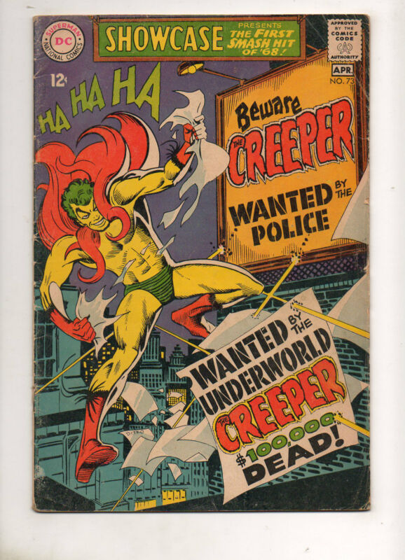 Showcase #73 1ST APPEARANCE & ORIGIN of The CREEPER! VG+ 4.5 1968 4 DITKO ART!