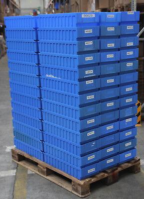 60 STÜCK SSI Schäfer Regalkisten RK 621B und Trenner RKT 421B 521B blau online kaufen