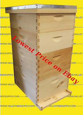 10-Frame Bee Hive w/ free feeder + Hive tool - Free Shipping