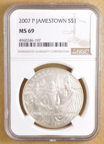 2007 P Jamestown Commemorative Silver Dollar NGC MS69