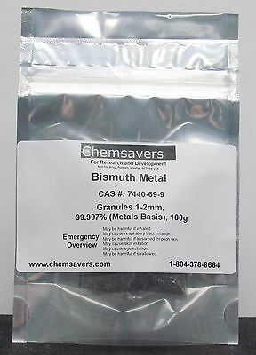Bismuth Metal Granules 1-2mm 99.997 Metals Basis 100g