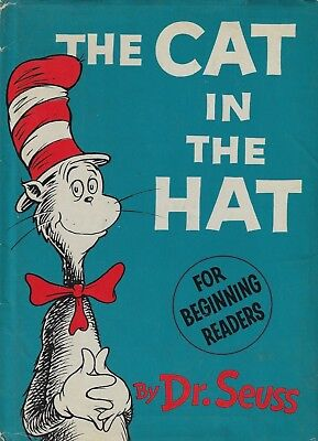 Dr. Seuss CAT IN THE HAT 1st Edition 1st Issue HC/DJ 1957