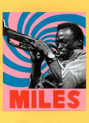 MILES DAVIS  POSTER. A3. Jazz, Avant Garde.