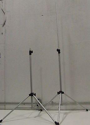 """Lot of (2) 84"""" 7' Heavy Duty All Metal Light Speaker Screen Tripod Stand 4'-7'"""