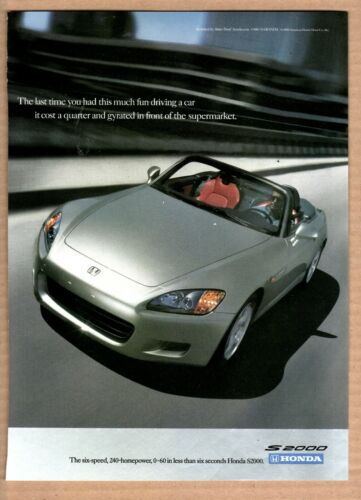 2001 Honda S2000 Print Ad (Silver)
