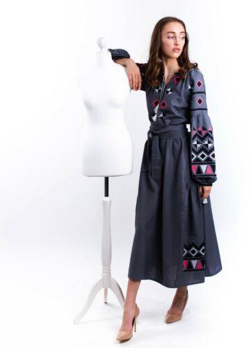 Ukrainian embroidered boho linen dress, sorochka, shirt, vyshyvanka, bohostyle