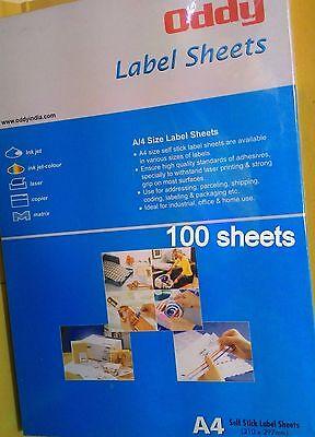200 A4 21x29.7cm White Blank Paper Label Sticker Matt Copier Printer Wholesale