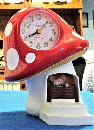 Mushroom Alarm Clock Cavalry Bugle Alarm From Mars Made In Taiwan Quartz Novelty